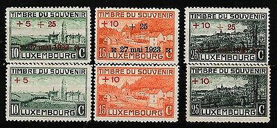 Luxembourg 1923 Overprint Set Mint