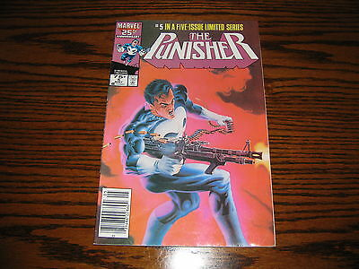 Marvel - THE PUNISHER #5 - Limited Series!!  Glossy VG/FN  1986