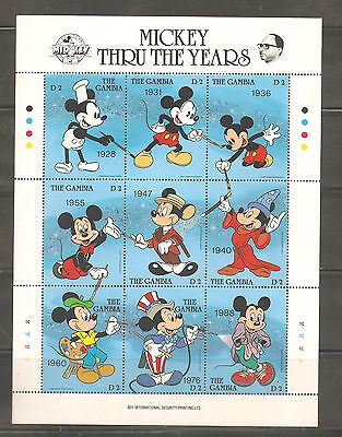 a stock page of Disney Mint never hinged sheet of stamps from Gambia.