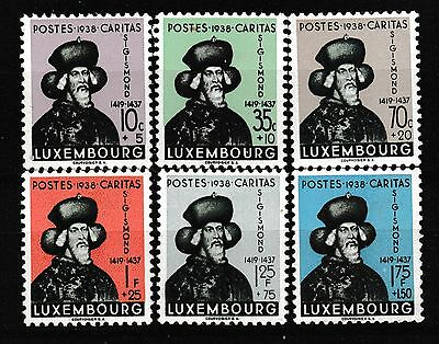 "Luxembourg 1938 ""caritas"" Charity Set Mnh"