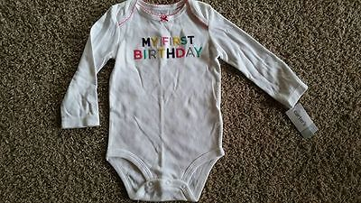NWT Carter's LONG SLEEVE BIRTHDAY GIRL SHIRT 18 MONTHS 1st birthday NEW