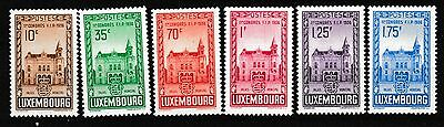 Luxembourg 1936 Stamp Congress Set Mnh