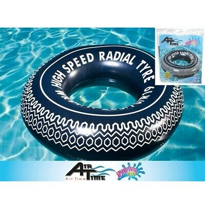 Airtime Tyre Swim Ring 90cm Inflatable Tyre Swim Tube Pool Lounge Float Toy New