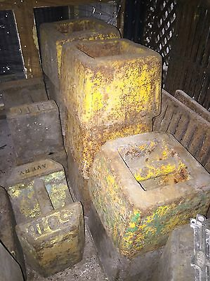 56lb Vintage Antique Cast Iron Weights Market Stall Shop Display