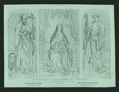 Madonna, 2 Stahlstiche steel engravings ca. 1870