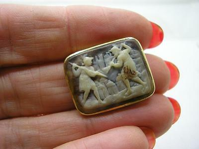 Georgian 18ct Gold Mounted Carved Shell Cameo Centre Only