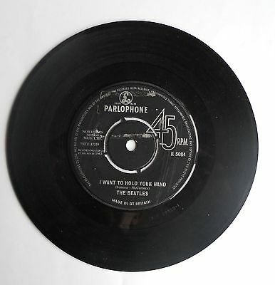 "The Beatles *i Want To Hold Your Hand* 7"" 1963 Uk 1St Press! !!"