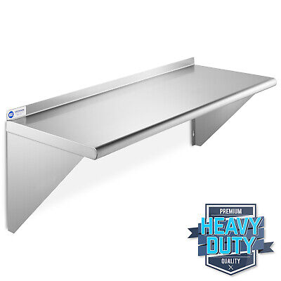 "Stainless Steel Commercial Kitchen Wall Shelf Restaurant Shelving - 14"" x 36"""