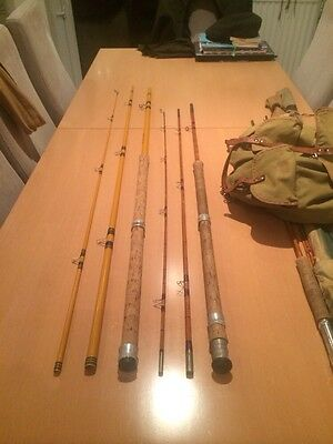 Two Vintage Cane Coarse Fishing Rods