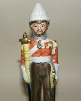 Vintage Ceramic French Cavalry Officer Hand Painted