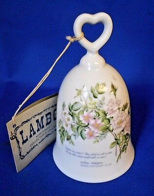 Shakespeare Collector's Bell Genuine Chatillon Porcelain fired fine china 4 1/2