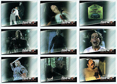 Friday The 13Th Complete Set Of 9 Promotional Cards Fp1-Fp9