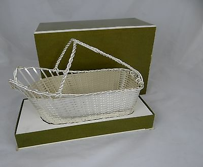 CHRISTOFLE Exquisite Basket Weave Wine Bottle Holder Silver Plate New Condition