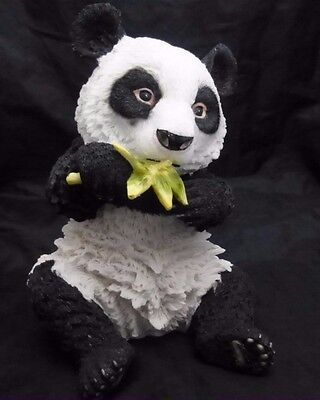 Realistic Hand Painted Cast Stone Resin Giant Panda Bear Sculpture