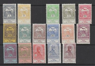 Hungary 1913 Flood Relief values MH ( 12f is used)