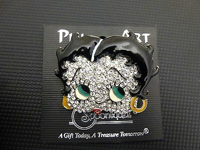 Collectable Iconic Betty Boop Spoontiques Austrian Crystal Pin Brooch w/ Enamel