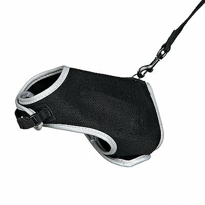 Trixie Black Cat Vest Soft Harness And Lead - For Small Cats 41896