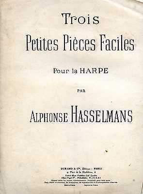 Three Little Easy Pieces For Pedal Harp By Alphonse Hasselmans