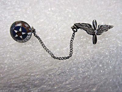 Vintage WWII Sterling Silver United States Air Corps Pin W EAGLE