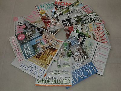 13 June/july Magazines: Elle Decoration, Home & Antiques, House & Garden, Etc