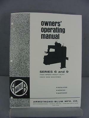 Armstrong Blum Marvel 6 & 9 Owner's Operating Manual