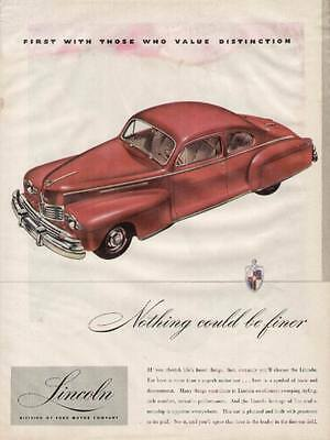 1946 Lincoln 2-door Sedan ad