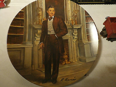 "Vintage Edwin M. Knowles 20116A Gone With The Wind Rhett Plate 8 1/2"" C. 1981"