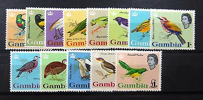 GAMBIA 1963 Birds Complete SG193-205 Mounted Mint NEW LOWER PRICE FP8623