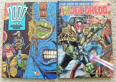Judge Dredd + 2000Ad Annuals Both 1989 Unclipped & In Mint Condition