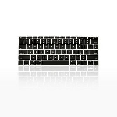 "BLACK Keyboard Cover for Macbook Pro 13"" A1708 WITHOUT Touch Bar (Release 2016)"