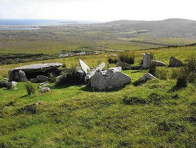 Postcard Megalithic Court-Tomb Achill Island Co. Mayo Ireland