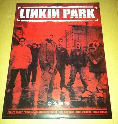 LINKIN PARK Retail 2000 PROMO POSTER For Hybrid Theory CD MINT USA 24 x 18