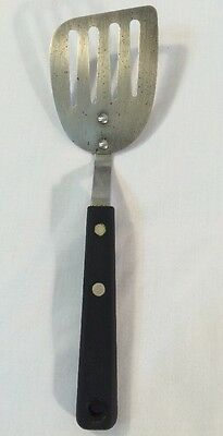 """Vintage Ekco Forge Stainless Steel Usa Small Short 9 1/4"""" Slotted Spatula"""