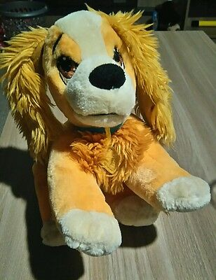 """Disney Store Lady And The Tramp 10"""" Long Lady Beanie Plush Soft Toy"""