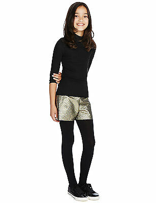 M&S Polo Neck Top & Metallic Effect Shorts Outfit Set - Age 12-13 - Box6513 R