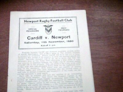 50/51 Newport V Cardiff[Rugby Union]