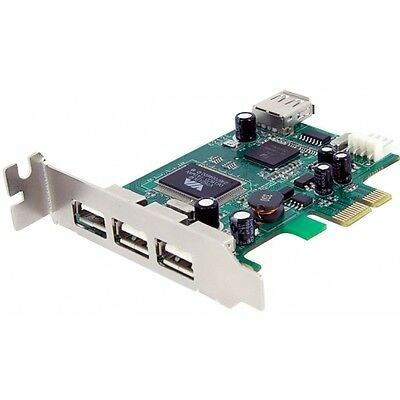 4 Port PCI Express Low Profile High Speed USB Card Brand New