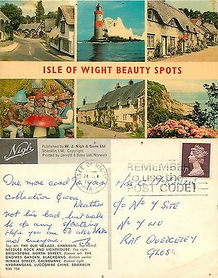 a1222 Multiview, Isle of Wight, England Nigh postcard posted 1978 stamp