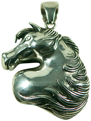 Horse Head Pendant Necklace- Sterling Silver (.925)