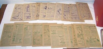 24 Different 1950 National Biscuit Co.  STRAIGHT ARROW INJUN-UITY CARDS