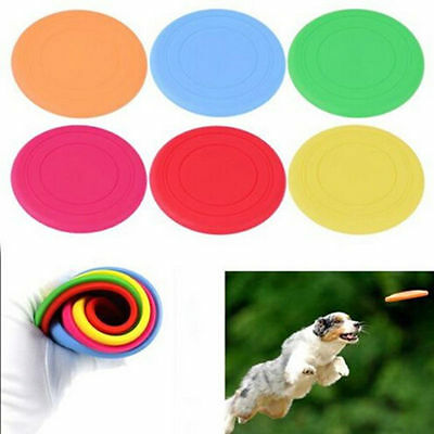 Big Pet Dog Training Frisbee Flying Disc Frisby Fetch soft Silicone Throwing Toy