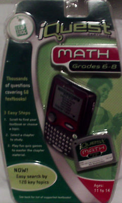 Leap Frog IQUEST Math Cartridge Grades 6-8 NEW