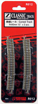 Rokuhan R012 R490mm 13º Curved Track 2 pcs. (1/220 Z Scale)