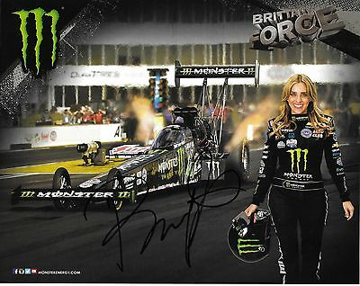 Brittany Force Autographed Signed 2015 Monster Energy Top Fuel Hero Card NHRA