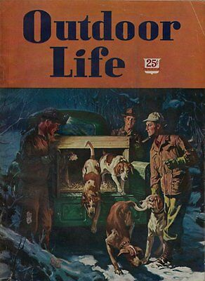 March 1947 Outdoor Life Hunting & Fishing Magazine - Nice Condition