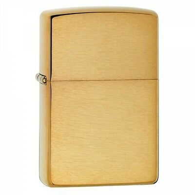 Zippo Armor Brushed Brass Windproof Lighter  Brand New