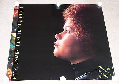 Etta James Poster Vintage 1978 Deep In The Night Promotional
