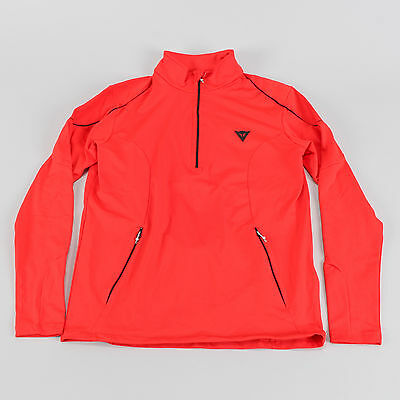 Dainese Fleece Half Zip Red LARGE Moto Cycling Polyester Long Sleeve