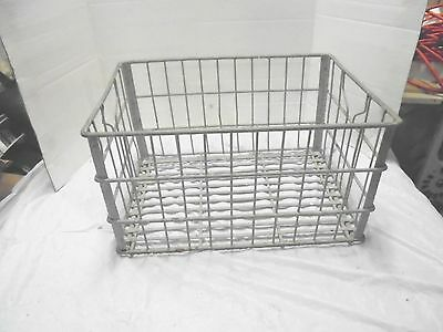 galvanized metal wire milk basket alaska dairy 55 industrial porch decor