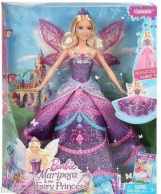 Barbie Mariposa Fairy Princess Doll Catania 2 Magical looks Fairytale Doll New